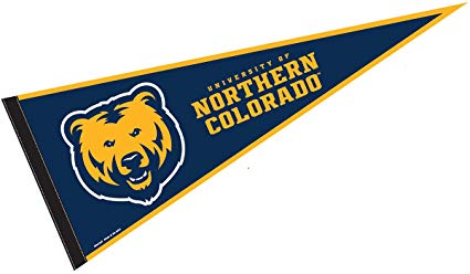 College Flags & Banners Co. University of Northern Colorado Pennant Full  Size Felt.