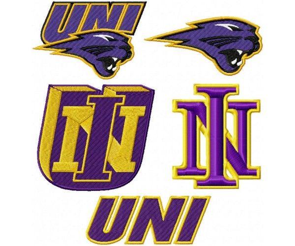 University of Northern Iowa Panthers logo machine embroider.