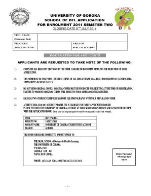 University Of Goroka Acceptance List 2018.