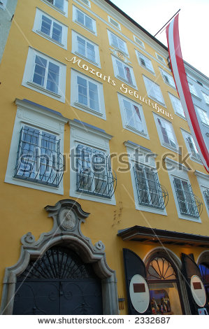Salzburg Mozart Stock Images, Royalty.