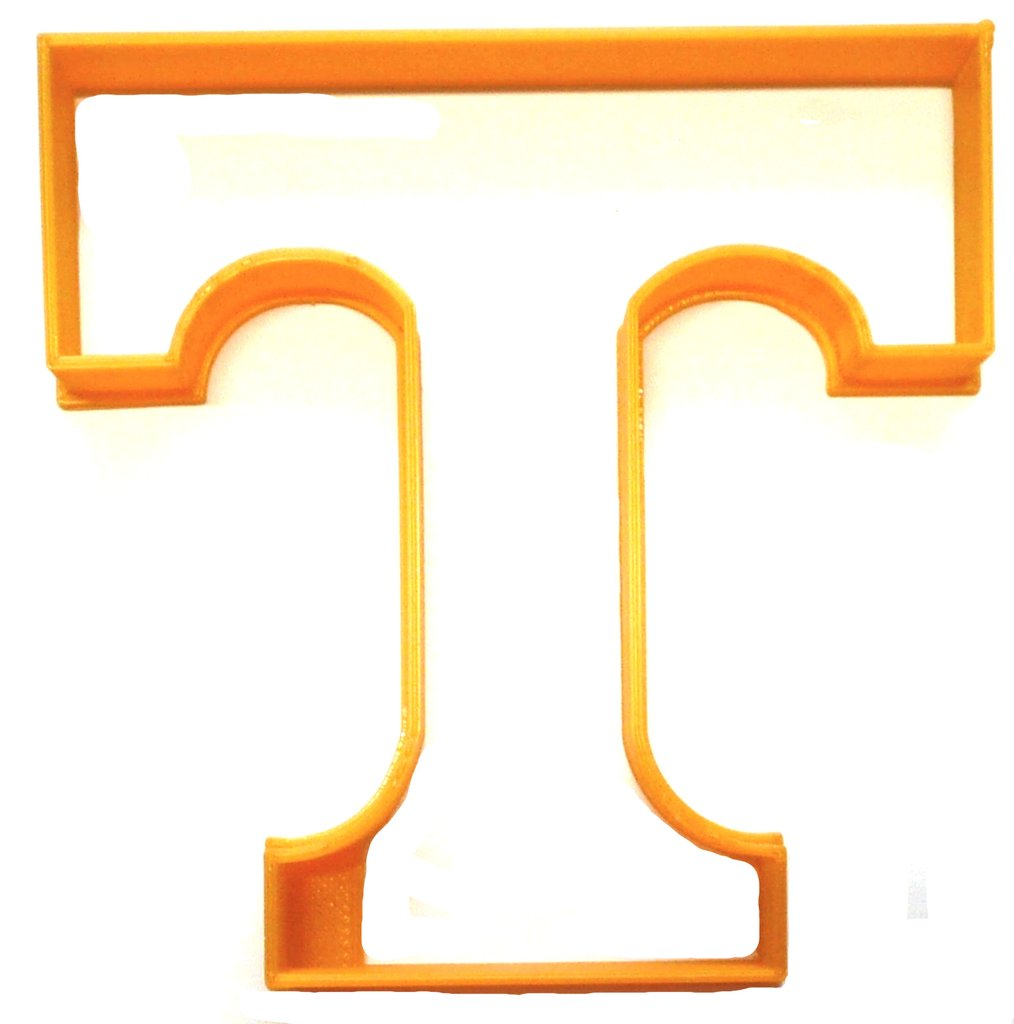 University Of Tennessee Volunteers T Logo Vols NCAA Athletics Sports  College Special Occasion Cookie Cutter Baking Tool Made In USA PR2351.