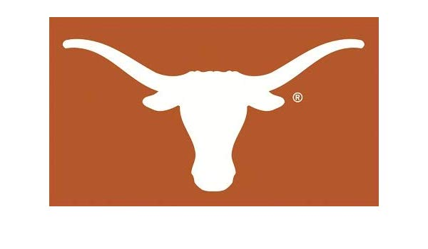 Amazon.com: 6 Inch Longhorn White Horns on Burnt Orange Logo.