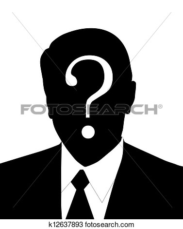 Unknown person clipart.