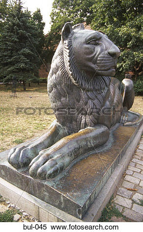 Stock Image of Lion Statue at the Tomb of the Unknown Soldier.