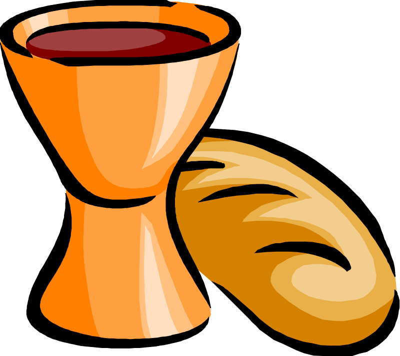Free Clipart: Bread and wine.