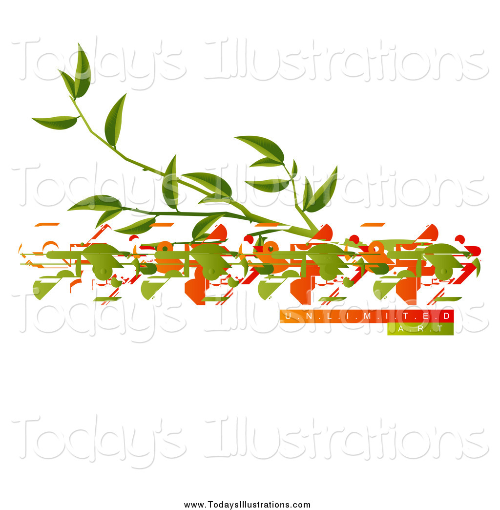 Clipart of a Tree Branch and Birds with Unlimited Art Sample Text.