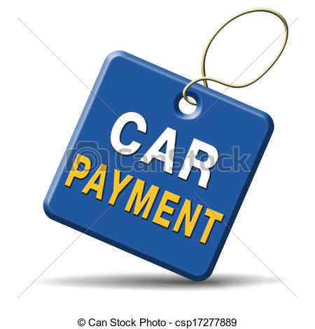 Stock Illustration of car payment or loan from bank financing for.