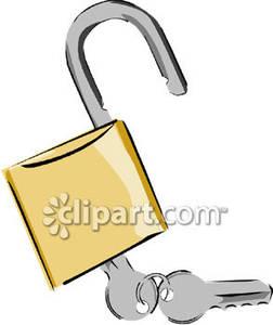 Unlock Clip Art.