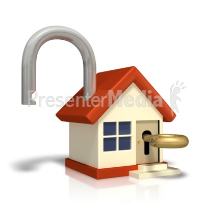 Unlocked House With Key.
