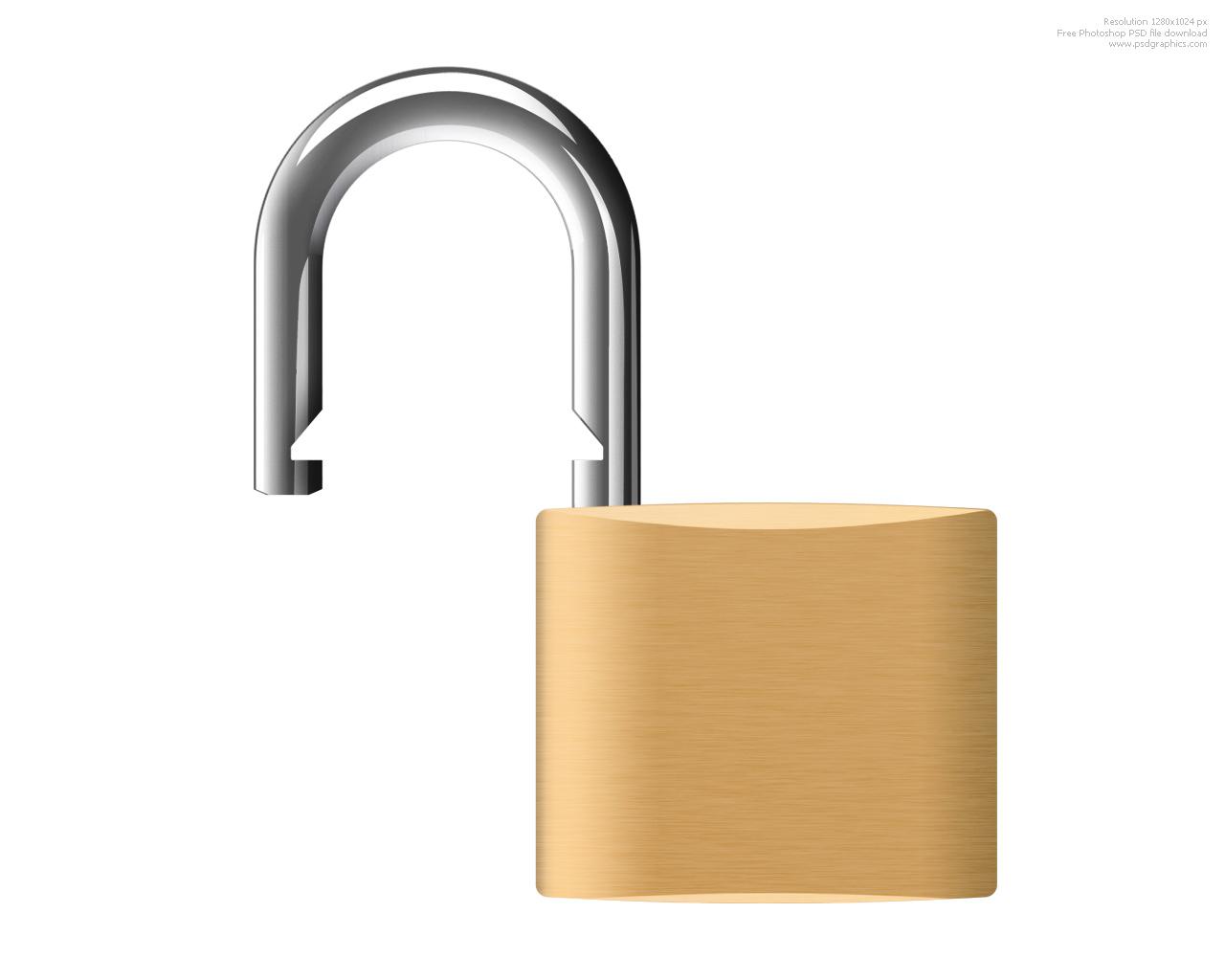 Unlocked Lock Clipart.