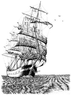 Clipart tall ships.