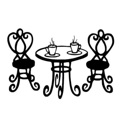 Paris Bistro Tables Clipart.