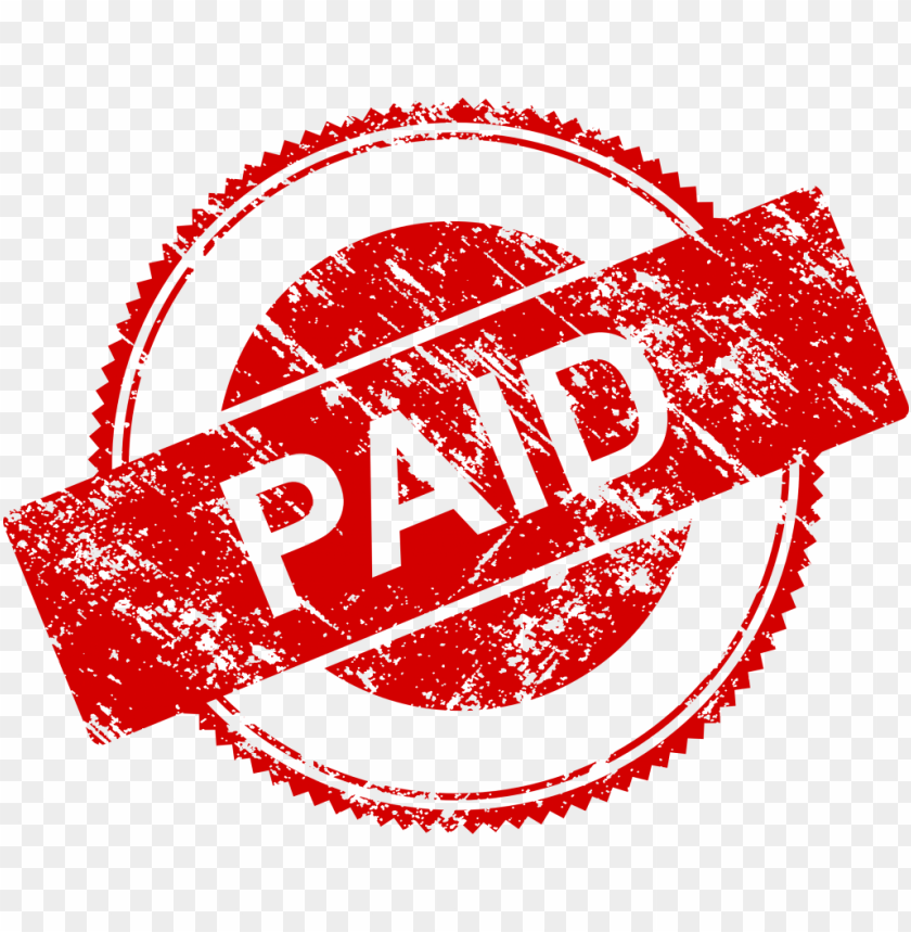paid stamp png.