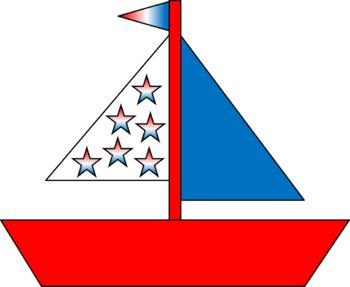Memorial Day Sailboat.