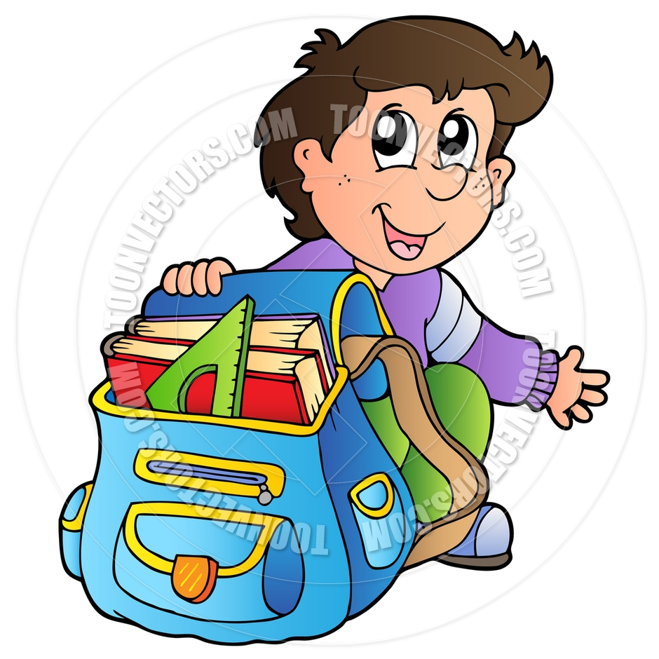 Unpack Backpack Clipart.