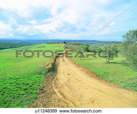 Stock Photograph of Europe, outdoors, roads, countryside, scenery.