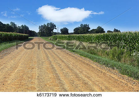 Stock Photograph of Unpaved Road k6173719.