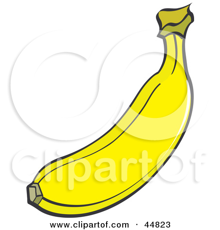 Clipart of a Fresh Bunch of Green Bananas.