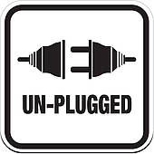 Clip Art of unplugged circle signs k17594707.