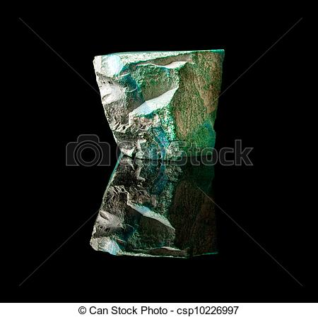 Stock Photographs of Rough malachite stone.
