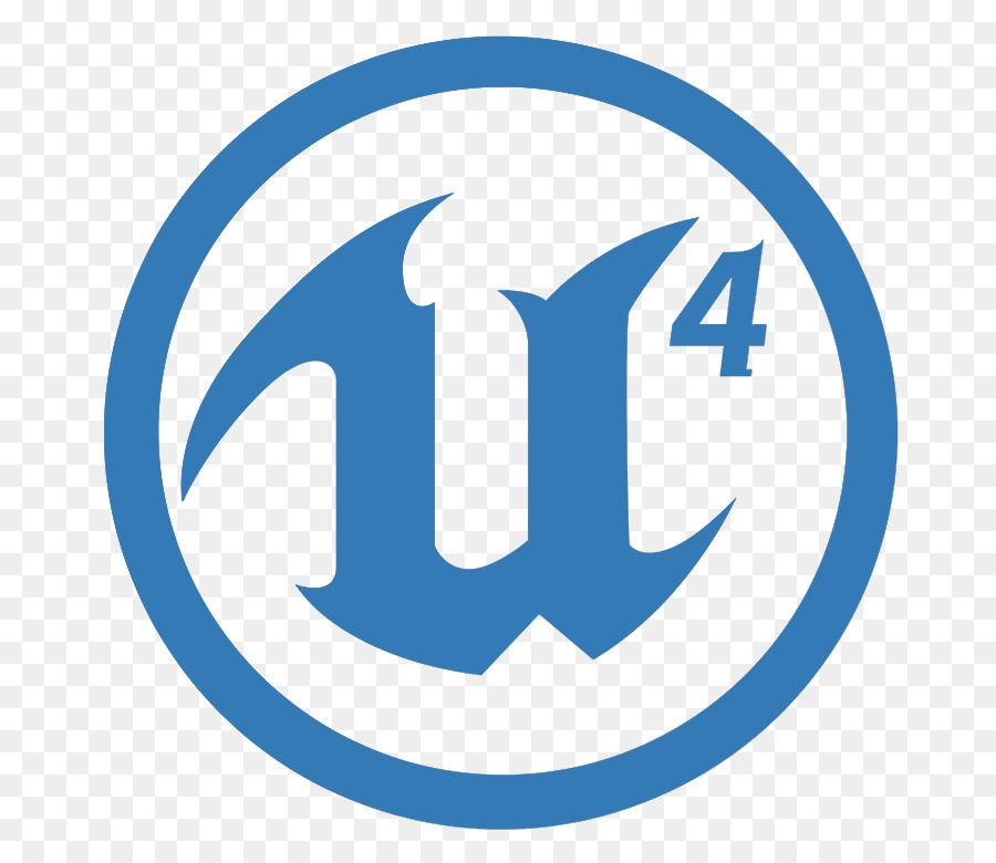 Unreal Engine 4 Blue png download.