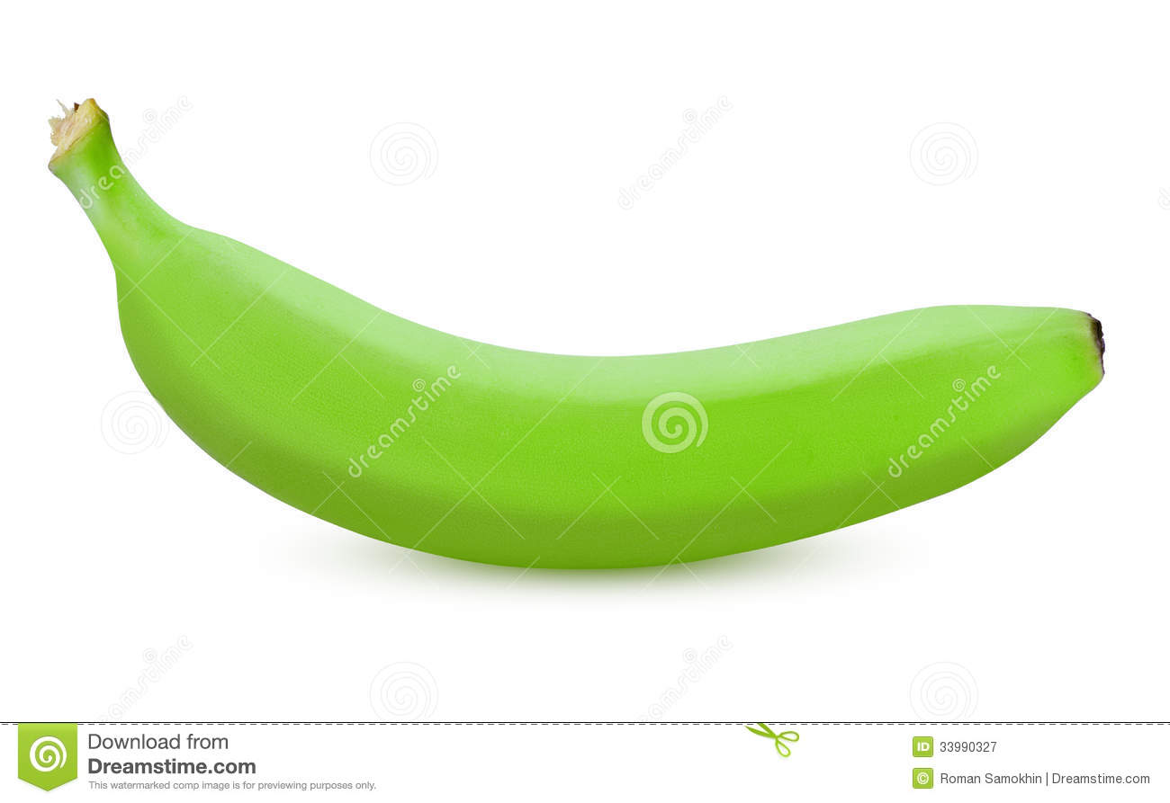 Green banana clipart.