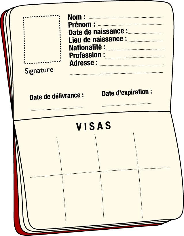 Clipart passeport.