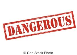 Clipart Vector of Dangerous.
