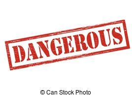 Clipart Vector of Dangerous.