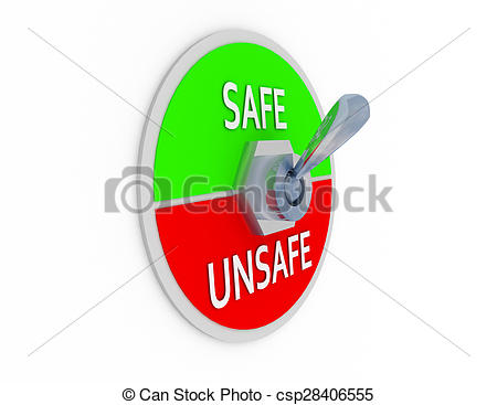 Stock Illustrations of 3d safe unsafe switcher csp28406555.