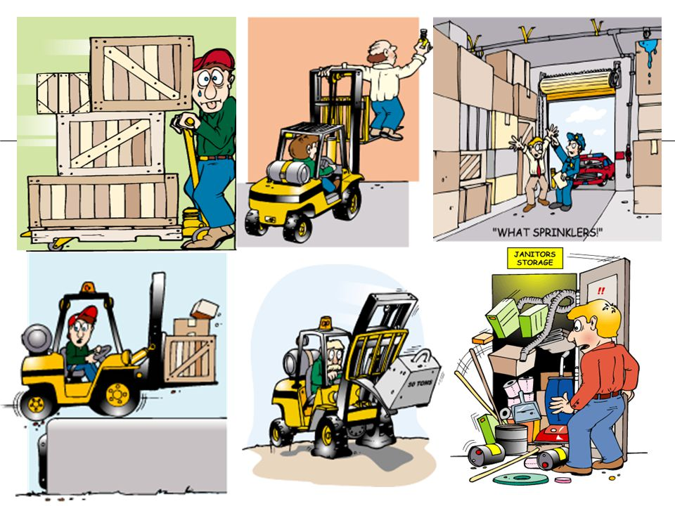 Unsafe Work Practices Clipart.
