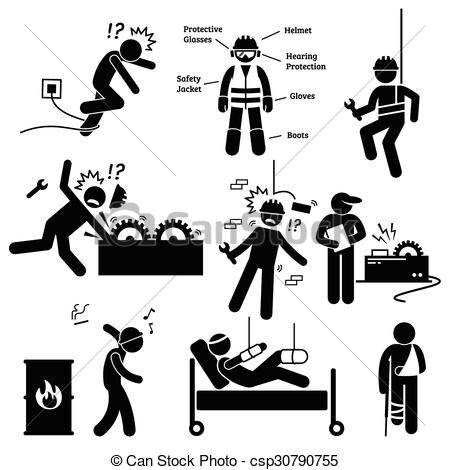 Unsafe Working Conditions Clipart.
