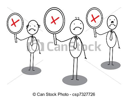 Clip Art Vector of Angry group banner vector image csp7327726.