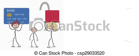 Unsecured clipart.