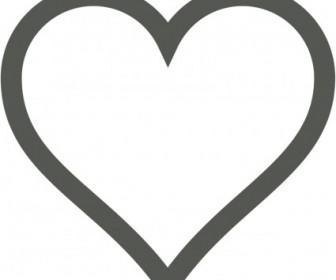 Vector Heart Icon (Deselected) Vector Clip Art.