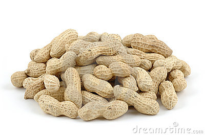 Pile Of Unshelled Peanuts Stock Photos.