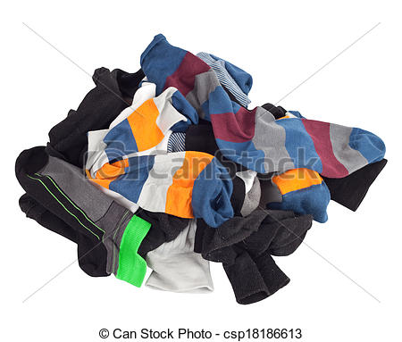 Pile of socks clipart.