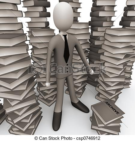 Clip Art of Unsorted Archive.