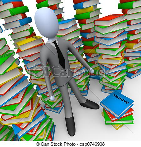 Stock Illustration of Unsorted Archive.
