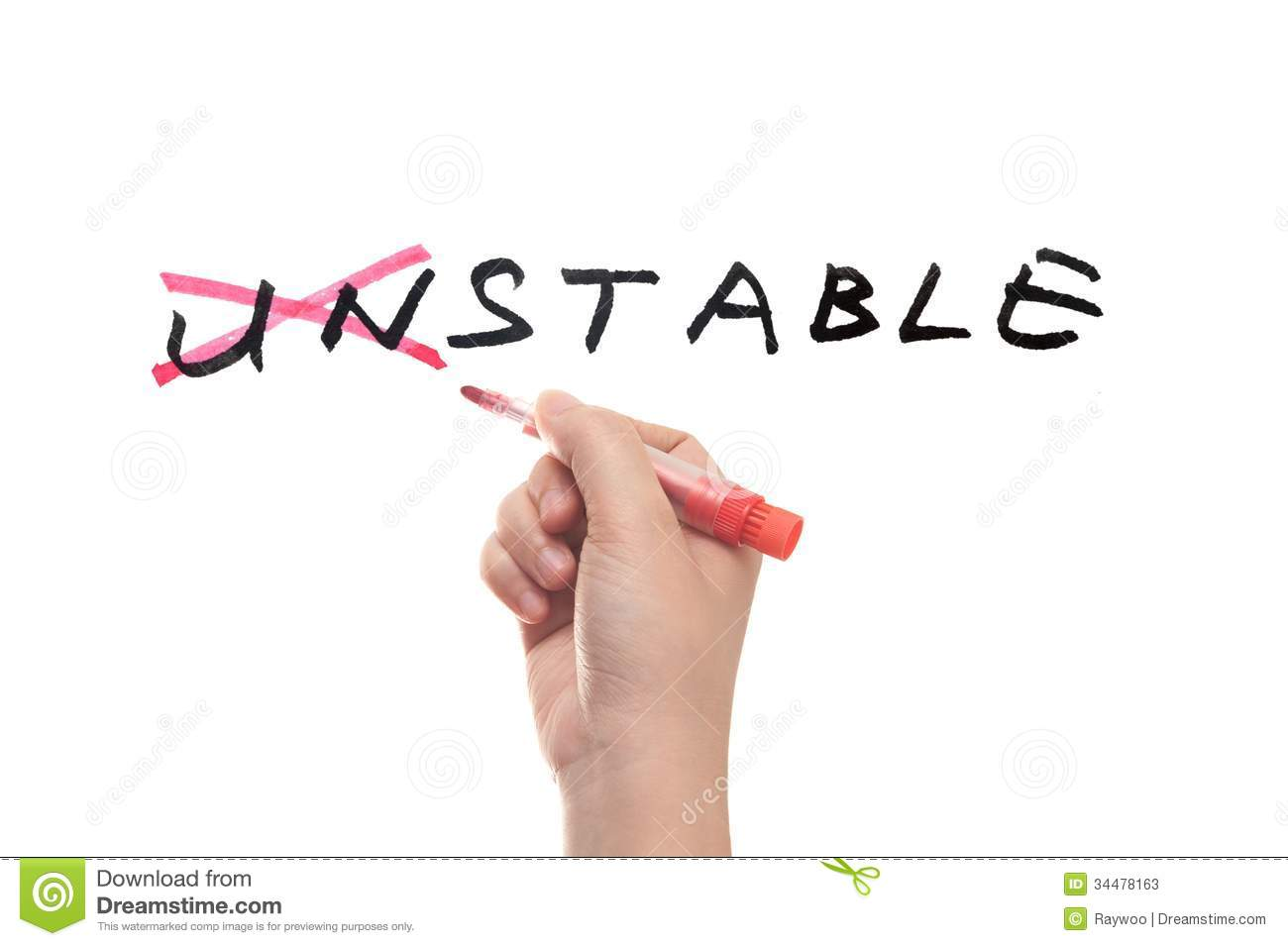 Unstable To Stable Concept Stock Photos.