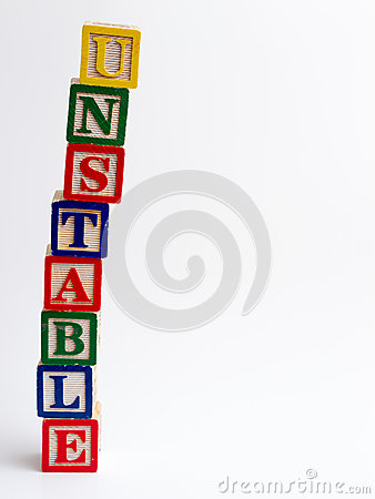 Unsteady Unstable Stock Vector.