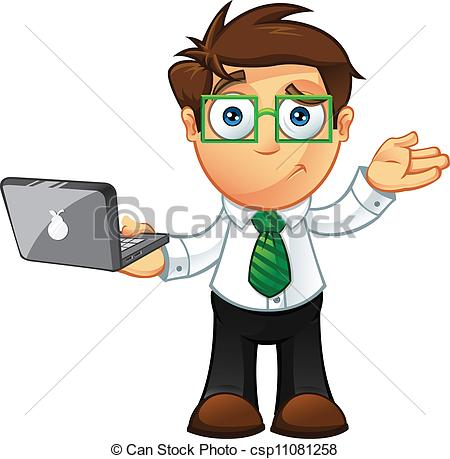 Clipart Vector of Business Man.