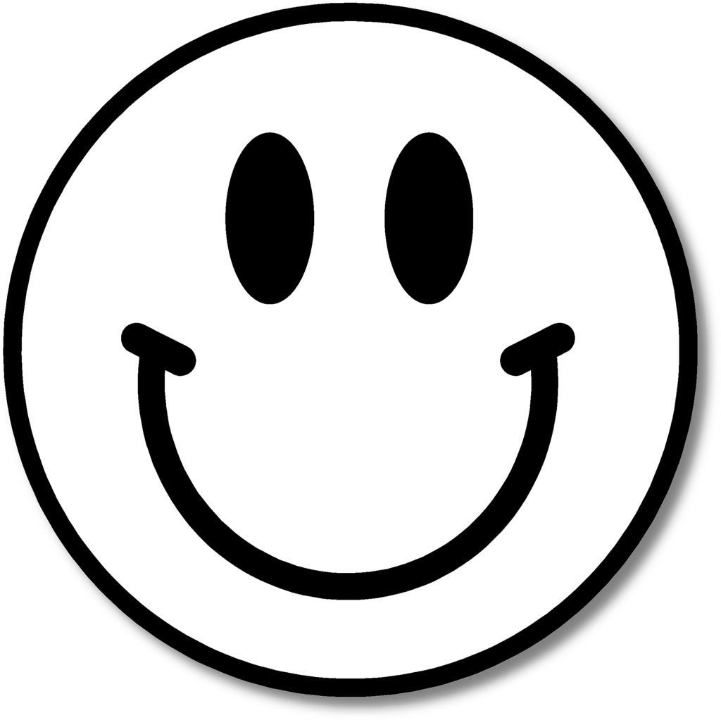 Free Black And White Smiley Face Clipart, Download Free Clip.