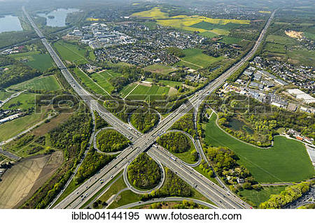 Stock Image of Motorway or highway intersection Holden, Erkrath.