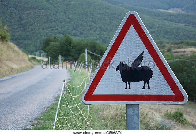 Sheep Crossing Sign Stock Photos & Sheep Crossing Sign Stock.