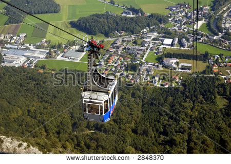 Cable Car Untersberg Mount Near Salzburg Stock Photo 2848370.