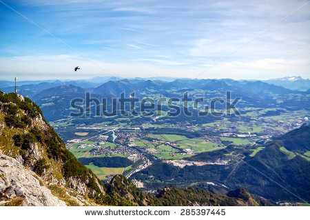Beautiful Panorama Hallstadt Austria Stock Photo 406822543.