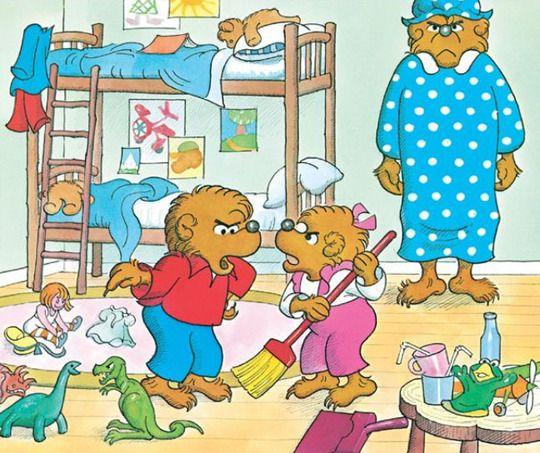 berenstein bears messy room.