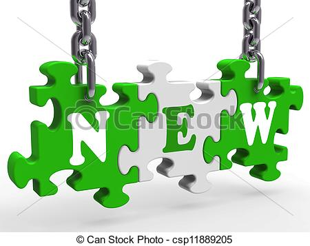 Stock Illustration of New Means Introduction Unused Or Promotion.