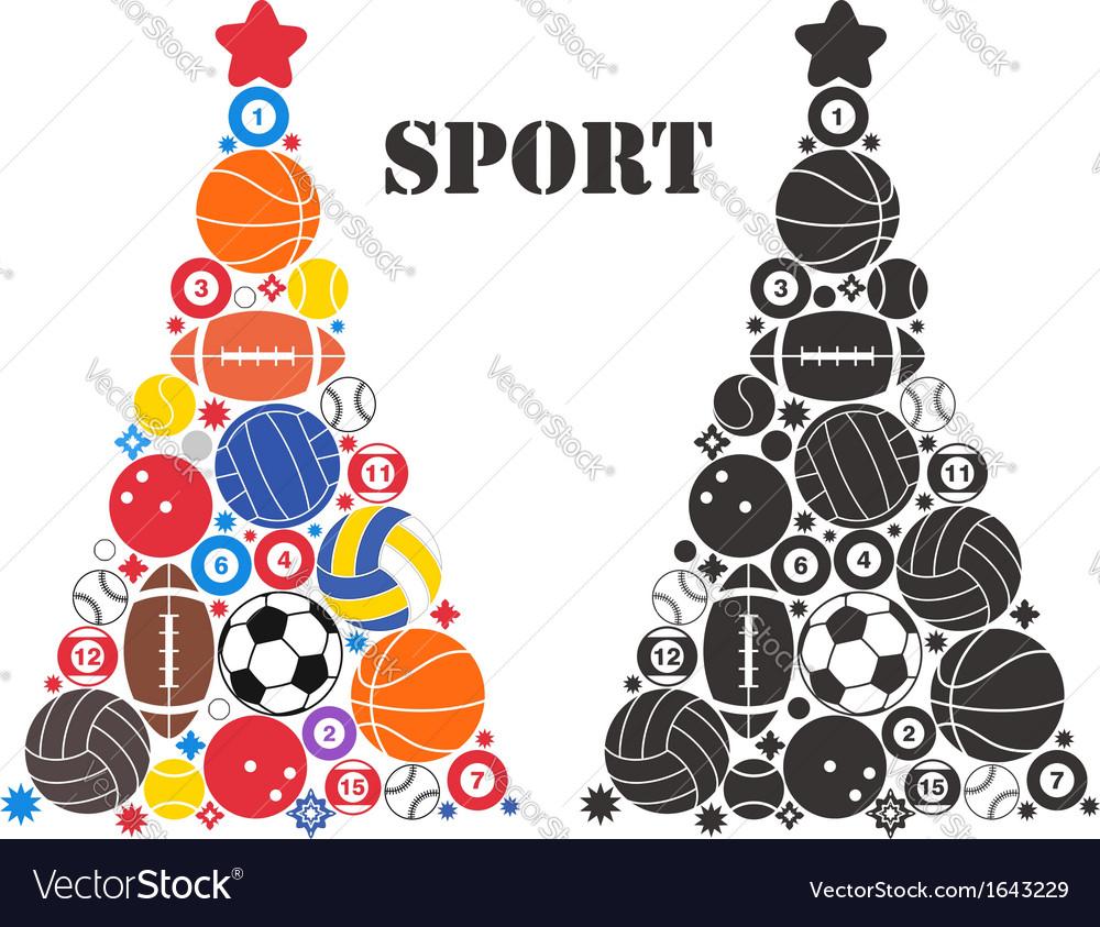 Unusual Christmas Tree Sport Vector Image by Aliaksei.
